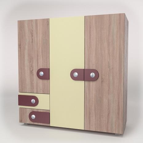 Шкаф для одежды 3Д2Я Лакки