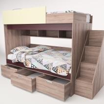 Кровать двухъярусная «Бамбино 3-1»