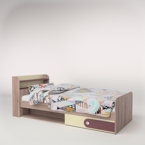 Кровать 900 Лакки