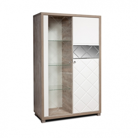 Шкаф с витриной П Кристал